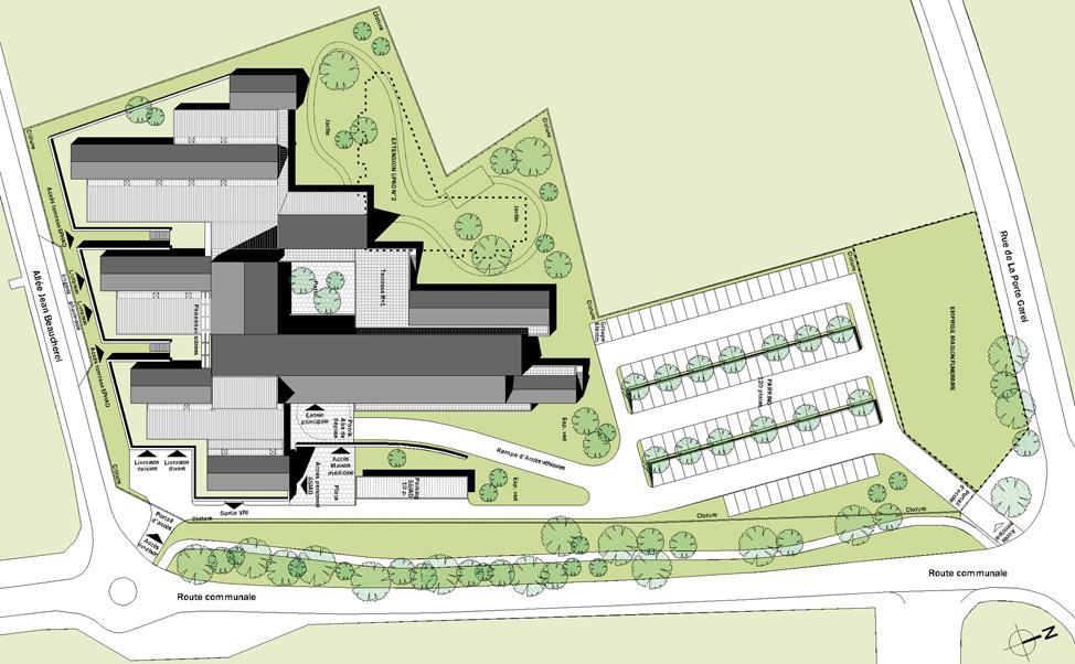 Hôpital local de la Roche Bernard: Plan de toiture