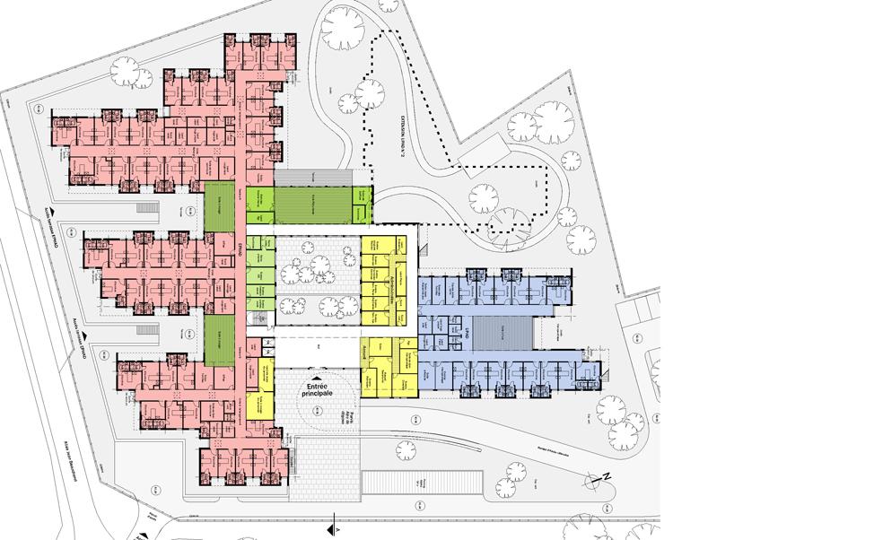 Hôpital local de la Roche Bernard: Plan du Rez-de-chaussée