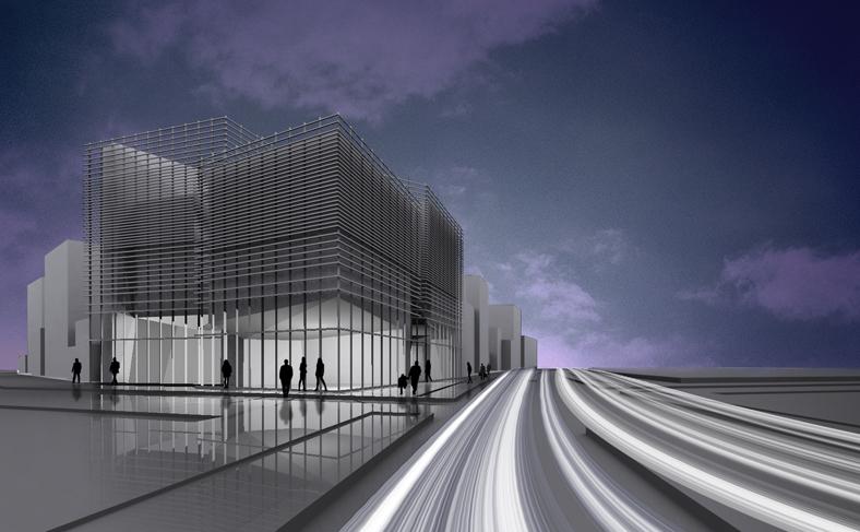 Projet pour la construction d'un immeuble mixte de commerces et de bureaux à Téhéran